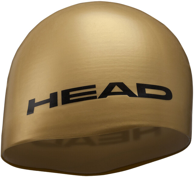 Head Silicone Moulded Swimcap Gold (2019)